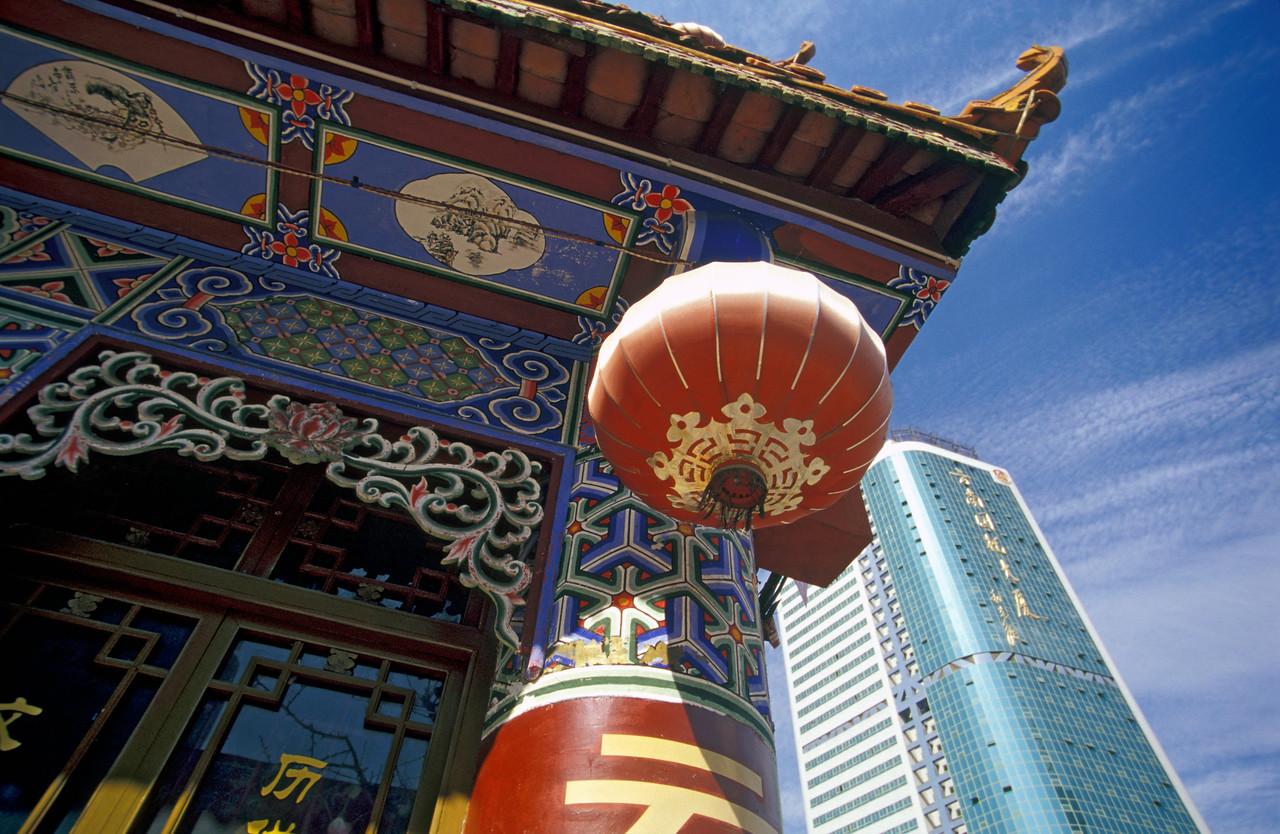 Skyscraper and Pagoda, Kunming