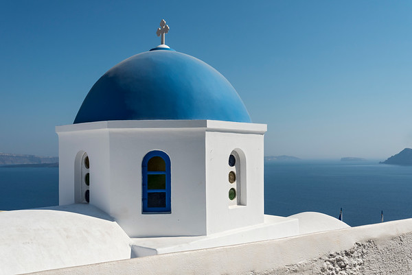 Blue-domed Church, Santorini