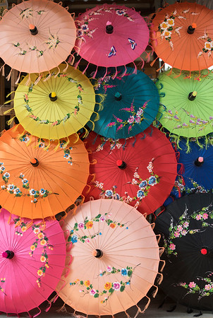 Colourful Umbrellas, Burma