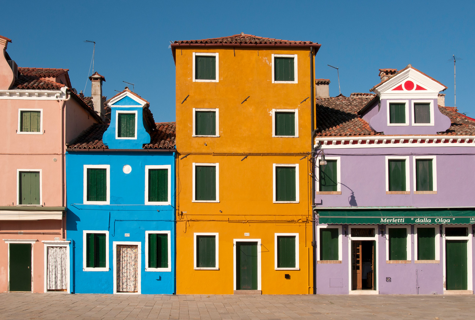 Brightly Painted Houses, Burano