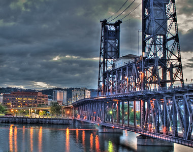 The Steele In The Night -- Steele Bridge, Portland, Oregon