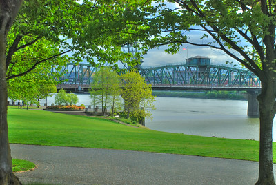 Green Fields By Hawthorne -- Hawthorne Bridge, Portland, Oregon