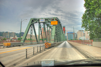 Driving On The Hawthorne -- The Hawthorne Bridge, Portland, Oregon