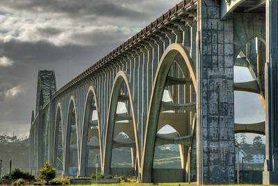 Arcs Over Yaquina -- Yaquina Bay Bridge, Newport, Oregon