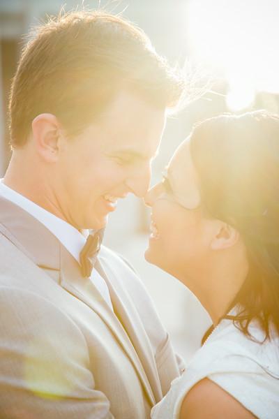 Sun Flare Wedding Kiss