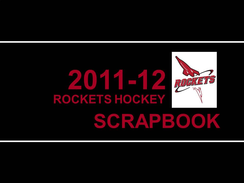2011-2012 JML Hockey Scrapbook Cover