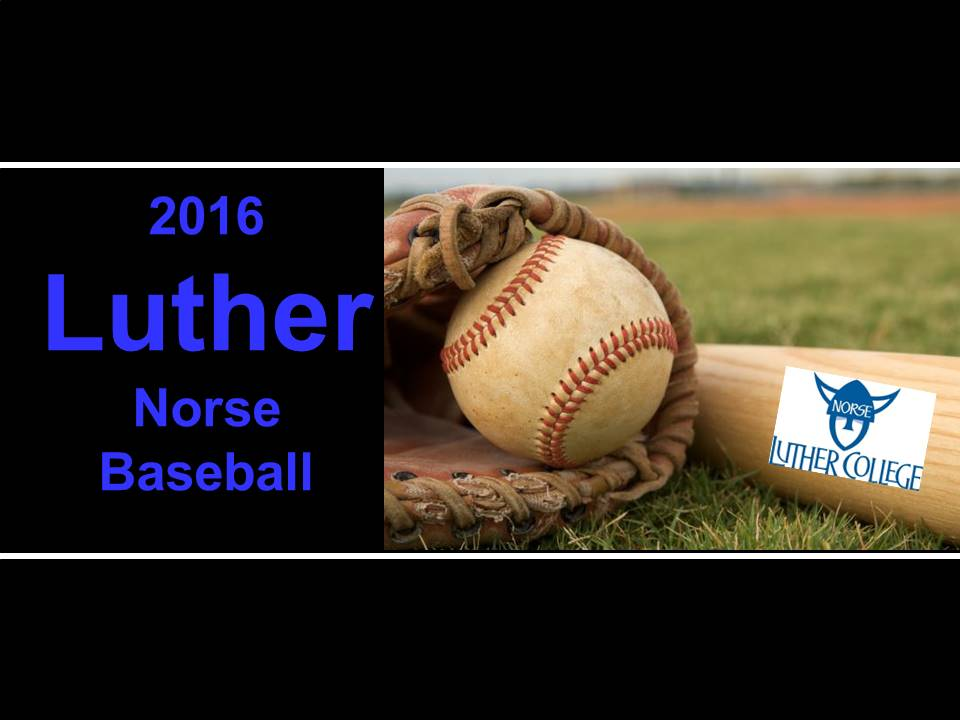 2016 Luther baseball
