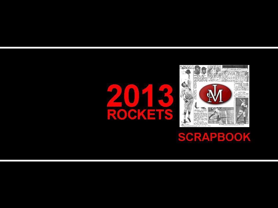 2013 JM Rocket Baseball Scrapbook