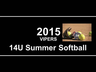 2015 Vipers Summer Softball