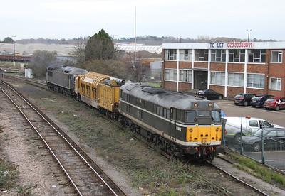 31190 Eastleigh 13/12/13 6Z43 Totton Yard to Eastleigh