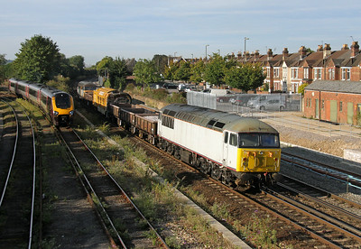56103 Eastleigh 24/08/14 on the rear of 6Y57 Feltham to Totton Yard