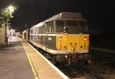 31190 Eastleigh 19/09/13 on the rear of 6Z32 Eastleigh to Tisbury