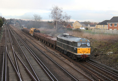 31190 Worting Junction 03/03/14 6Z32 Newark Northgate to Totton Yard with 56312 on the rear