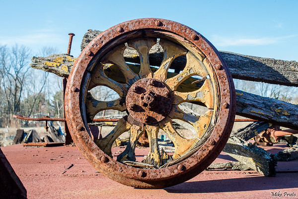 Old Train Wheel
