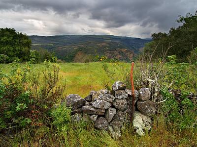 Rock Wall & Hiking Stick - Rector Ridge overlooking Napa Valley