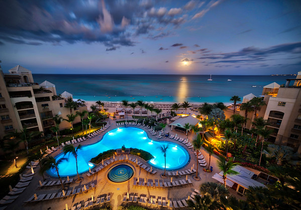 Moonrise in the Cayman Islands
