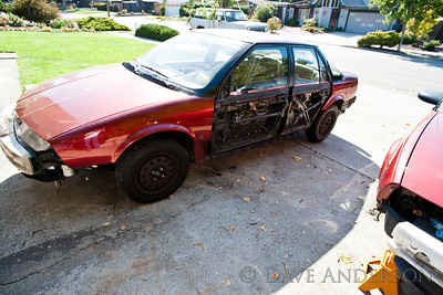 Prepping Robin's 1991 Saturn SL2 for paint