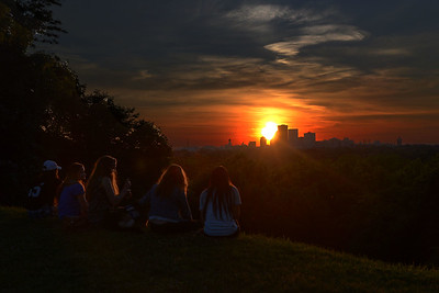 Cobbs Hill is a favorite place to watch the sunset