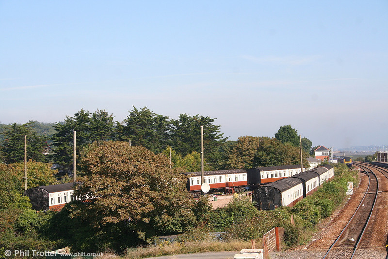 A general scene showing the Camping Coaches at Dawlish Warren on 8th September 2007. Camping Coaches have been available for holidays at Dawlish Warren since 1935, with the current vehicles installed in 1982.