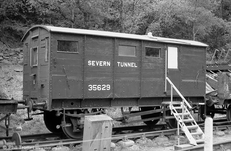 GWR Tunnel Van no. 35629 seen at the Gwili Railway. Building date is unknown, but possibly during the late 1890s.