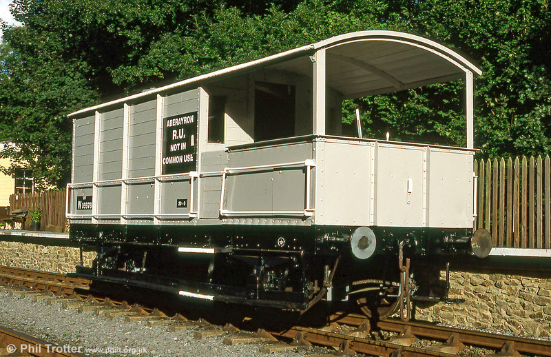 Former GWR 'Toad' 20 ton brakevan no. 35978 built in 1946. The brakevan ended its days in departmental use at Danygraig, Swansea from where it was rescued for preservation in 1978. It is seen at the Gwili Railway following restoration in August 1994.