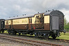 The Great Western Society's 814 is a fully operational Travelling Post Office vehicle, built in 1940. It is seen at Didcot on 29th May 2006.