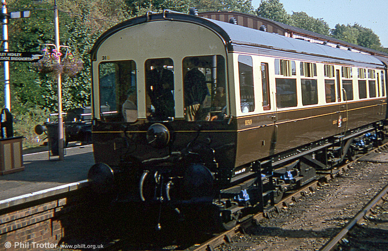 Inspection Saloon 80969, built at Swindon in 1948 and seen at Bewdley, Severn Valley Railway in 1978.