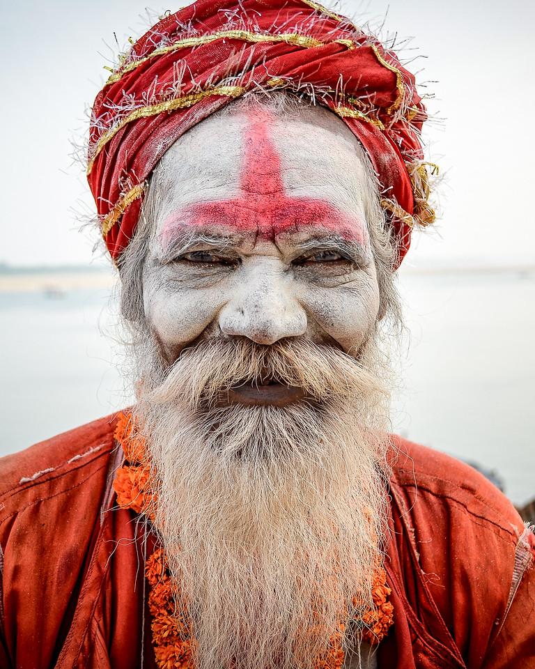Indian sadhu (holy man) in Varanasi
