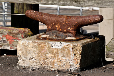 Half Moon Bay Marina, Rusty Cleat on the Peir