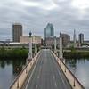 Springfield MA skyline as seen from over Memorial Bridge. (© Steven E. Nanton)