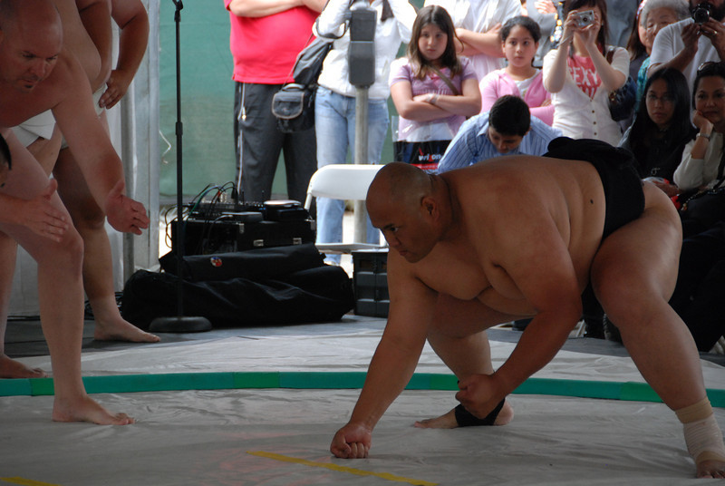 Sumo match - this guy looks ready to kick some butt, but the world champion beat everyone without too much trouble.