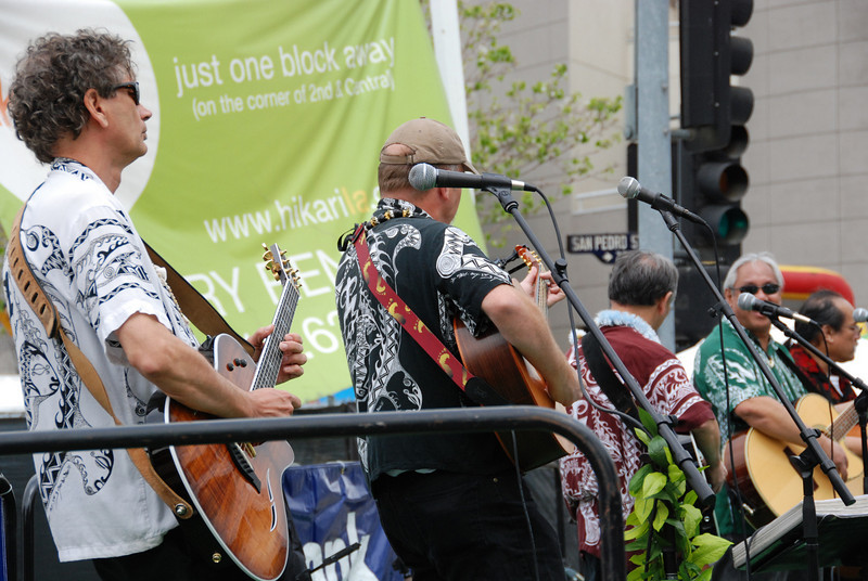 Hawaiian guitarists, or at least people playing in the Hawaiian style.