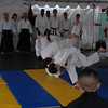 Martial arts children flipping