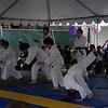 Martial arts children flipping
