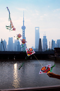 Fly Kite in Shanghai
