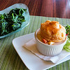 Lobster pot pie and spinach