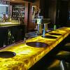 Stone bar at the Hilton restaurant