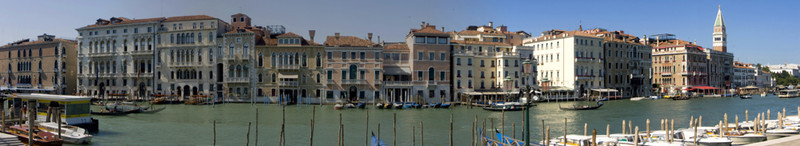 Along the Grand Canal opposite the Santa Maria dell Salute.