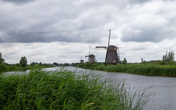 Kinderdijk, Netherlands, July 16, 2012