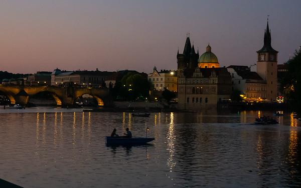 On the Vltava, Prague, Czech Republic, July 1, 2015.