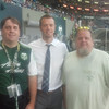 Matt and I with Jack Jewsbury in the Root Sports Lounge.  Jack hung at our table for awhile and talked.