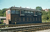 Pontypool Road South Signal Box photographed shortly before closure in 1979. The size of this structure is an indication of the former importance of Pontypool Road as a railway centre.
