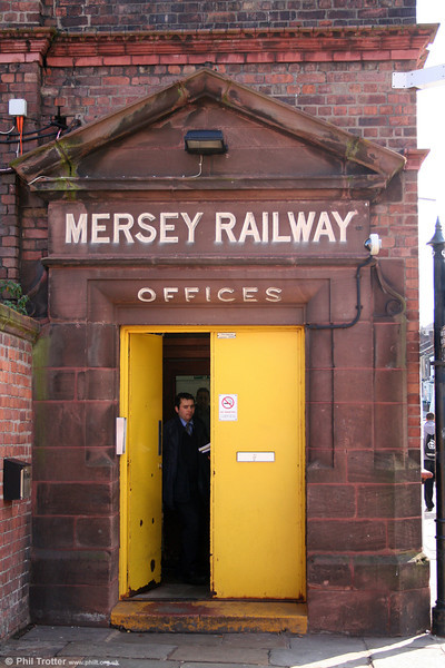A reminder of Merseyrail's heritage above a doorway at Birkenhead Central on 1st September 2008.