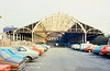 Bath Green Park on 20th February 1980. The train shed lost a lot of glass during bombing raids in April 1942. This wasn't replaced until restoration of the building after closure.