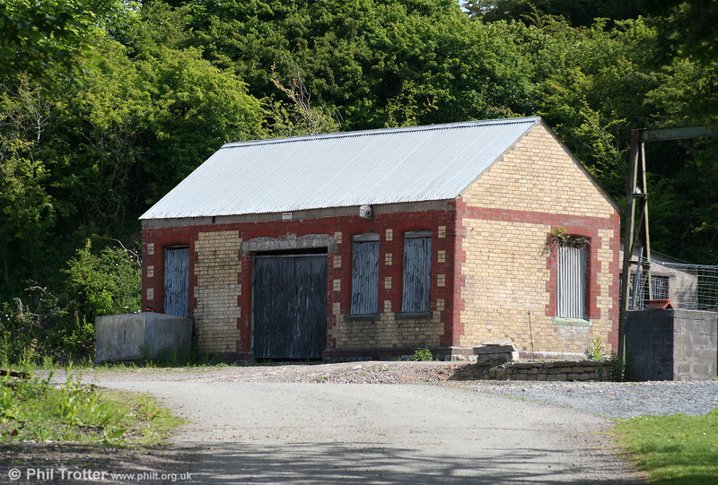 The former Taff Vale Railway line from Cowbridge to Aberthaw closed to passengers as long ago as 5th May 1930, but the distinctive brick station building at St. Athan Road still exists. The line was constructed by the TVR which had plans to develop a port at Aberthaw to compete with the Barry Railway. In the event, the TVR lost out and was left with an expensive single track branch. 13th June 2010.