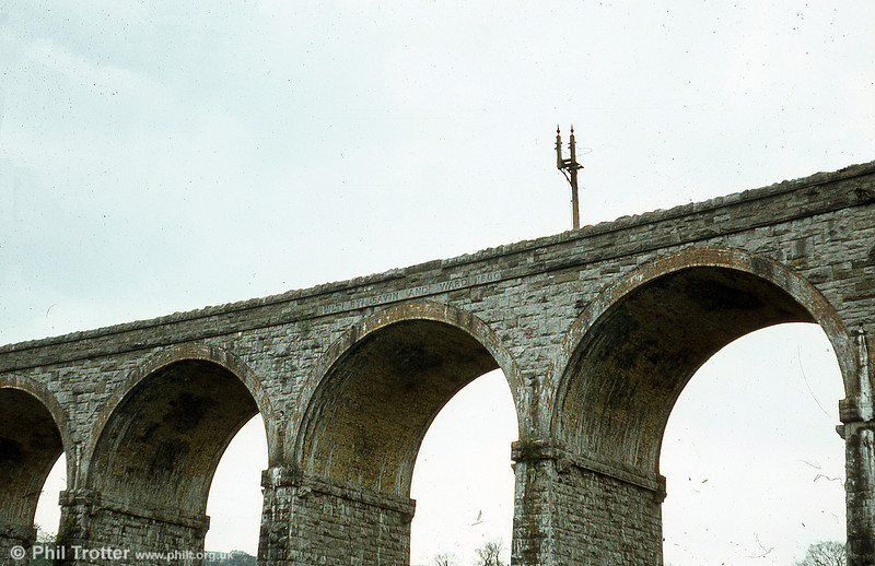Cefn Coed railway viaduct built in 1866 to carry the Brecon and Merthyr Railway over Taf Fawr.