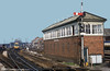 Taunton West Signal Box photographed in the early 1980s. This box closed on 12 May 1986 and was subsequently demolished.