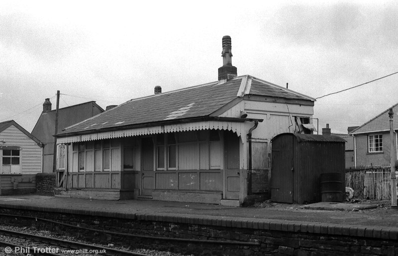 The station building at Ammanford Town, on the Gwaun Cae Gurwen branch, photographed in 1986, shortly before it was dismantled.