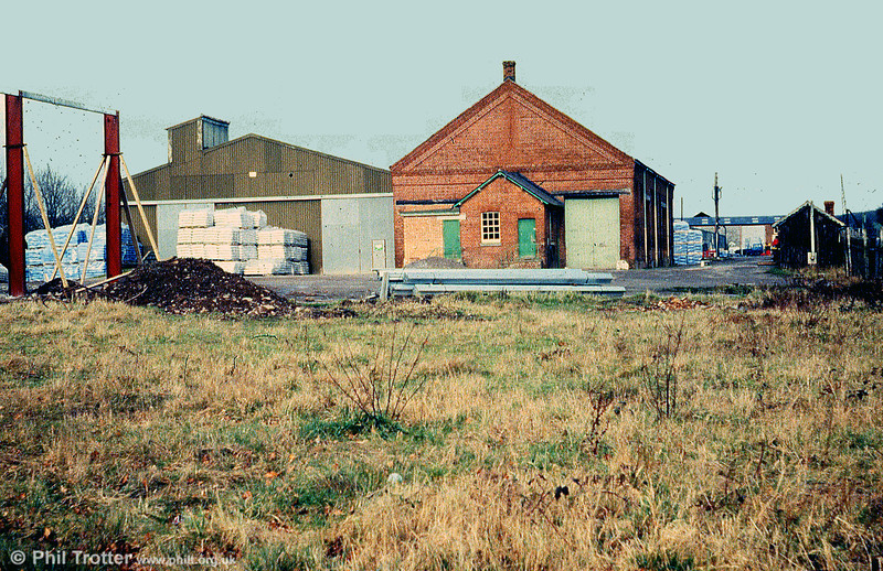 The former goods shed at Hay on Wye, photographed on 9th February 1980.