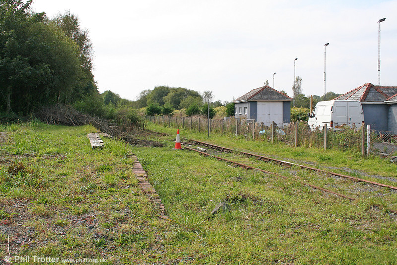 A second view of Pontyates looking towards Burry Port on 19th September 2009. As a consequence of low bridges along the route, in its later years the line famously employed class 03 and subsequently 08 locomotives with cut-down cabs.